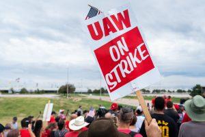 UAW strike sign