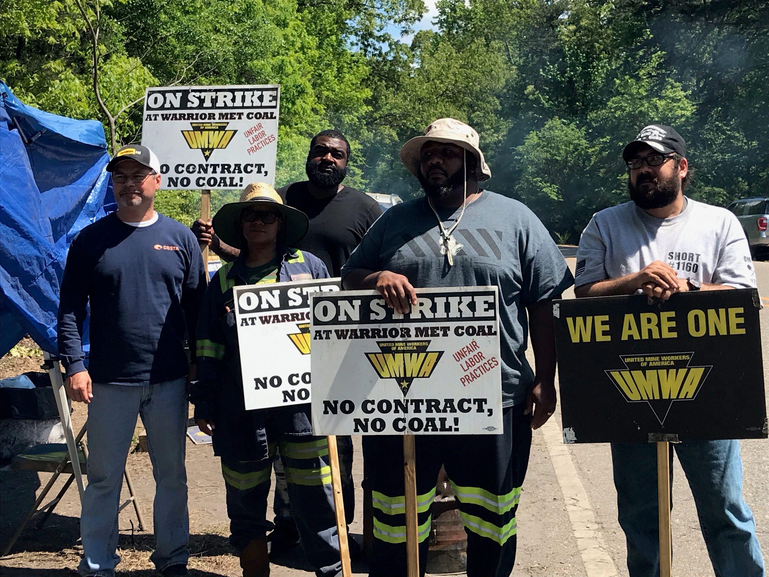 United Mine Workers of America on strike