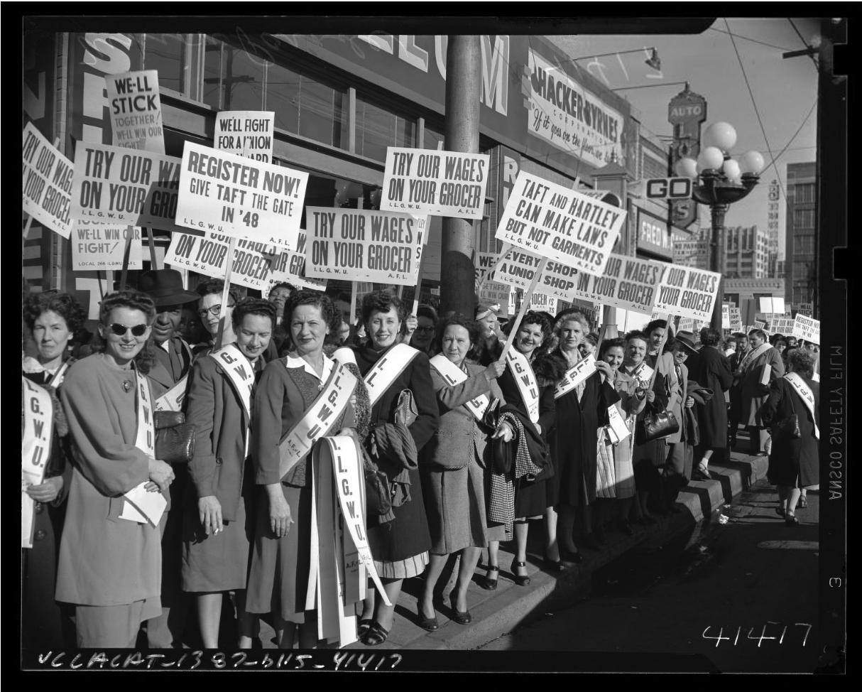 Taft Hartley demonstrators in 1948