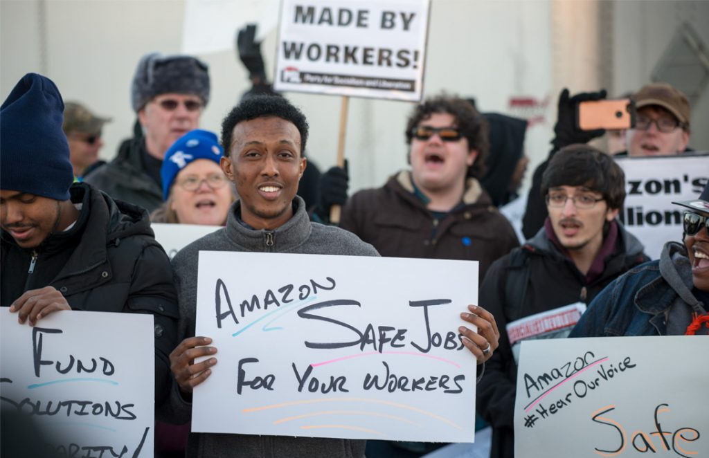 """Bezos acknowledges the problem of workplace injuries but still has Amazon employees work the """"megacycle."""""""