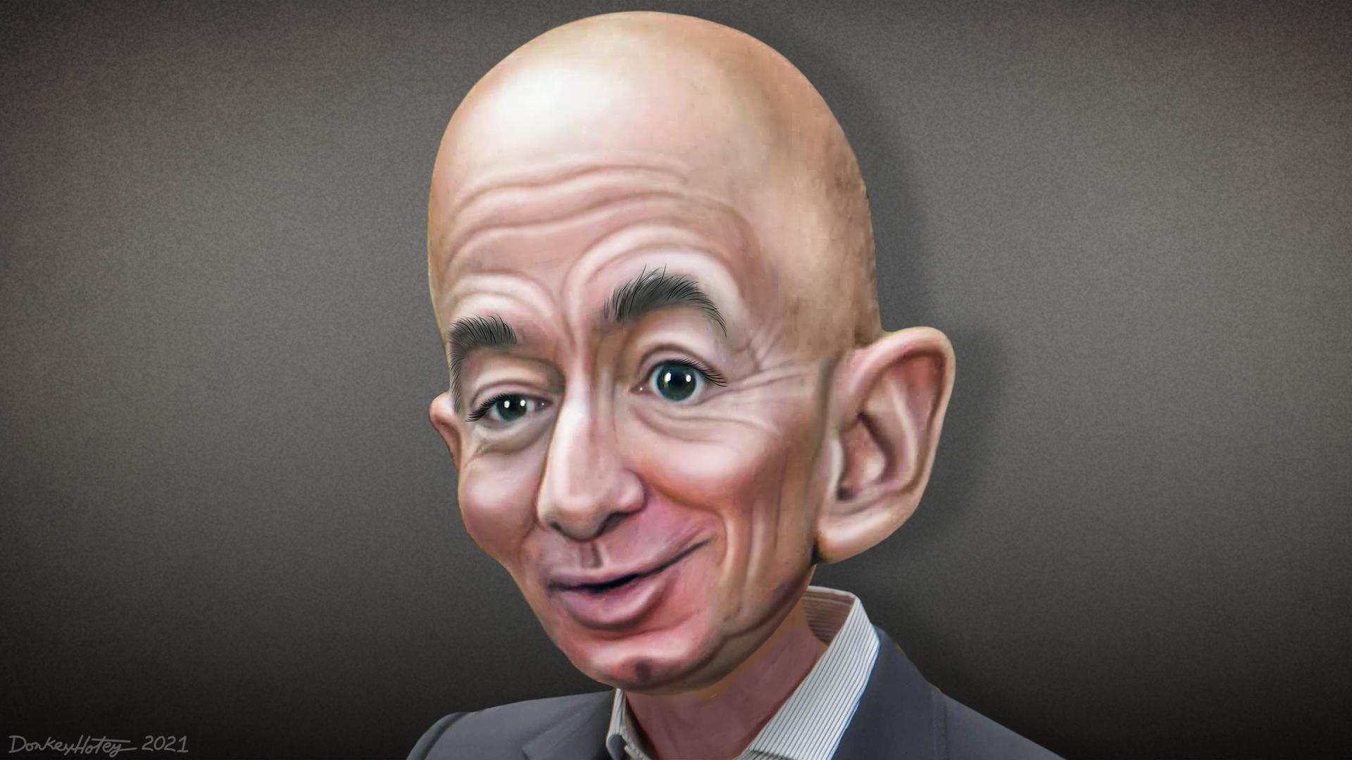 Jeff Bezos caricature