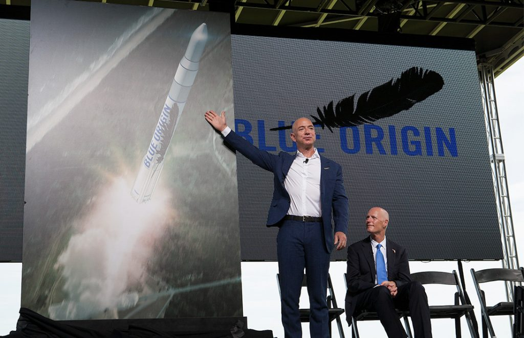 8. Jeff Bezos wants to make space into a playground for plutocrats.