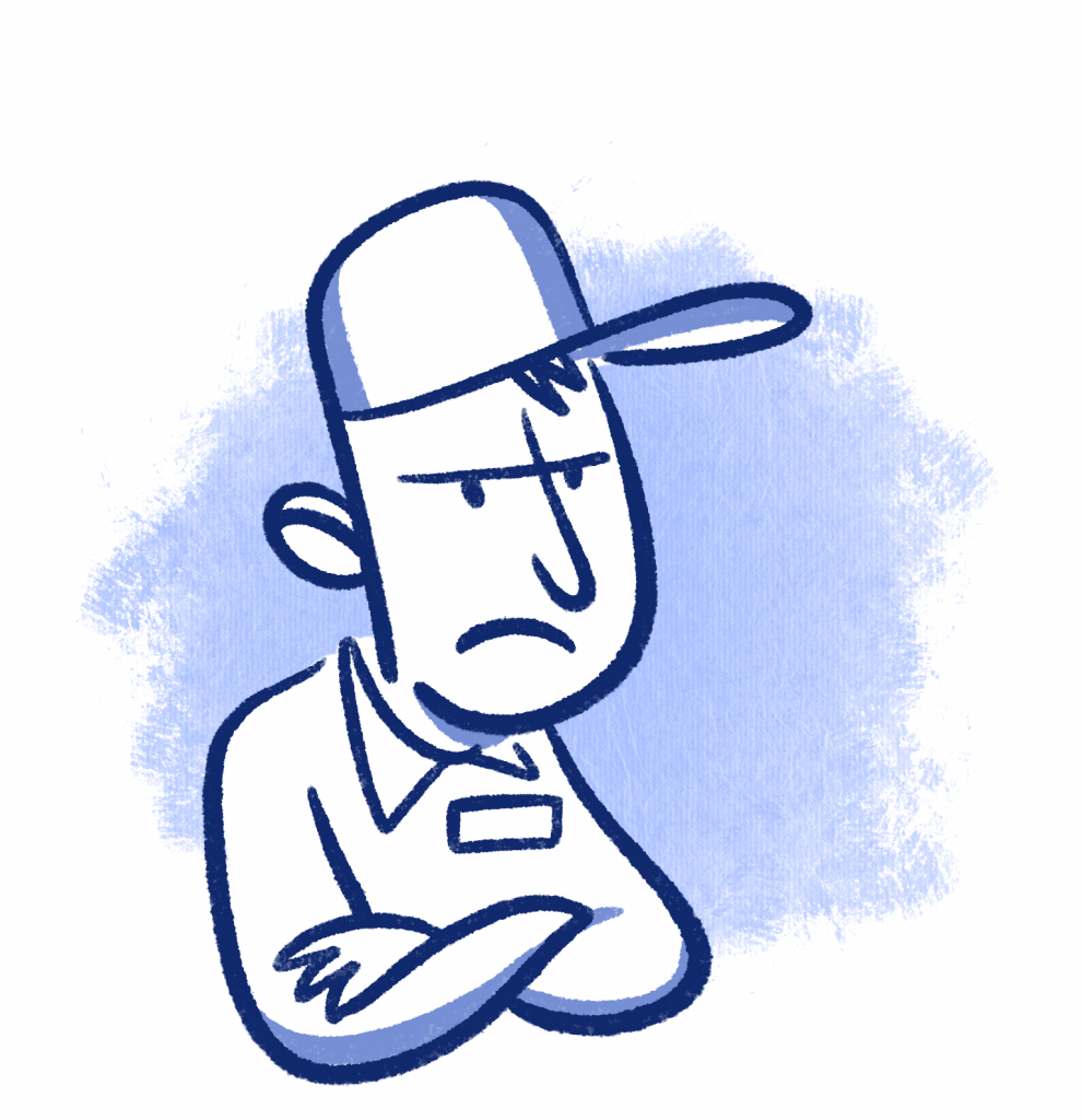 Angry worker